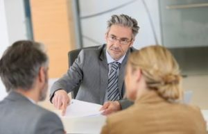 Bankruptcy Lawyer Meeting with Clients